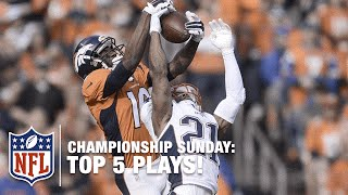 Top 5 Plays from Championship Sunday! | NFL