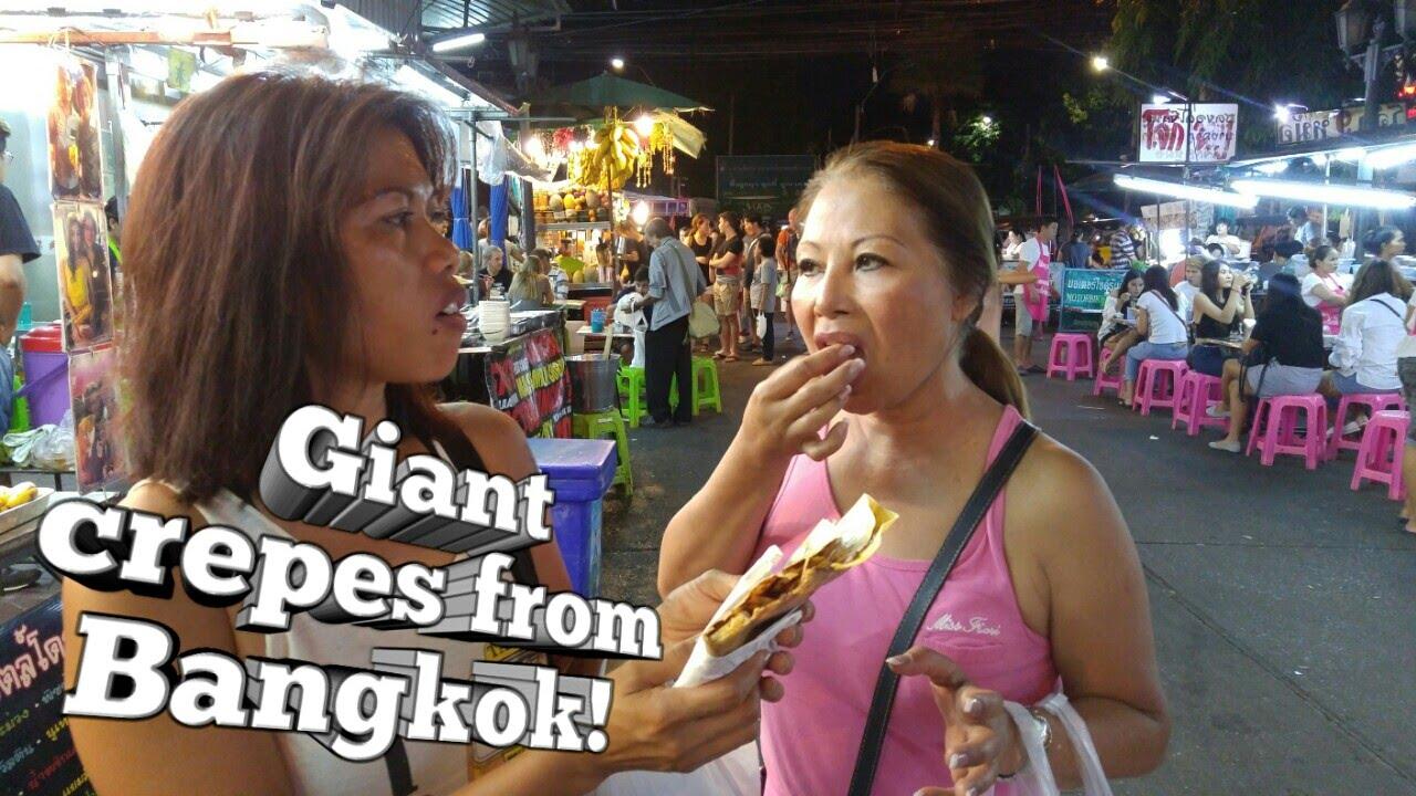 Bangkok Porn freshly made giant crepes in bangkok, thailand | khaosan