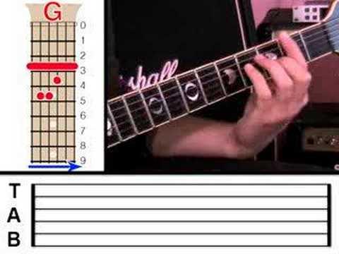 Guitar Lesson 9 - Bar Chords (www.vGuitarLessons.com)