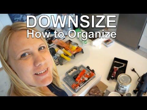 method for organizing downsizing your stuff my mini