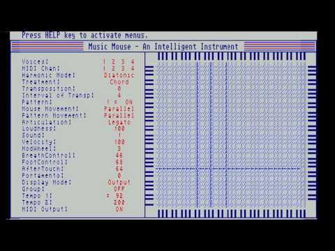 Demo of Music Mouse - An Intelligent Instrument -