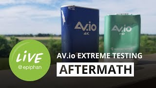 AV.io Extreme Testing Aftermath + Motorcycle live streaming