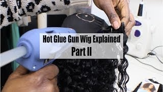 Hot Glue Gun Wig Series Part 2| Making A Hot Glue