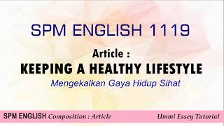 English spm - article : healthy ...