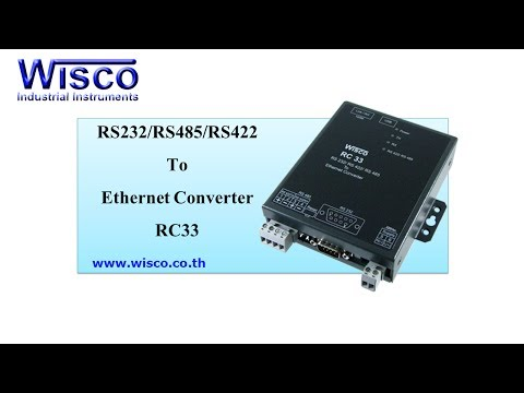 Wisco RC33: RS-232/RS-485/RS-422 To Ethernet Converter