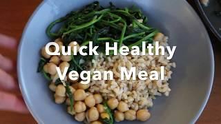 BỮA ĂN THUẦN CHAY DINH DƯỠNG CHƯA ĐẾN 10 PHÚT - QUICK HEALTHY VEGAN MEAL