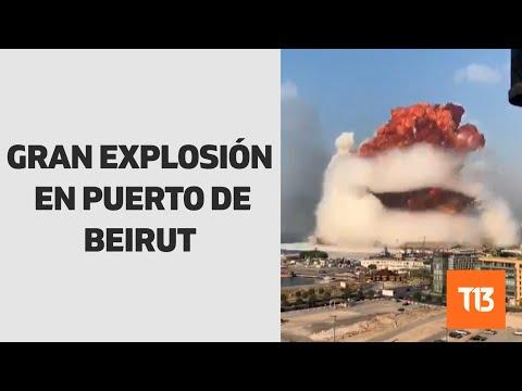 Registran gran explosión en puerto de Beirut, Líbano