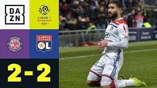Nabil Fekir mit Traumfreistoß kurz vor Schluss: Toulouse - Lyon 2:2 | Ligue 1 | DAZN Highlights