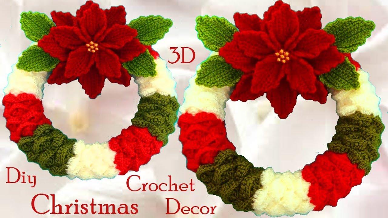 Corona de Navidad de Ganchillo - Crochet Christmas Wreath - YouTube | 720x1280