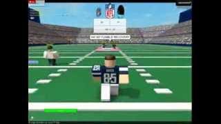 Roblox Warriors V.S Blue Cyans The RFL (Roblox Football League) part 1