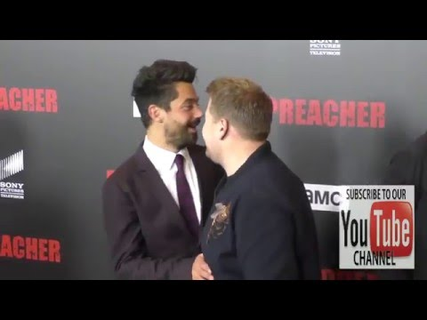 Dominic Cooper and James Corden at the Premiere Of AMC's Preacher at Regal LA Live Stadium 14 in Los