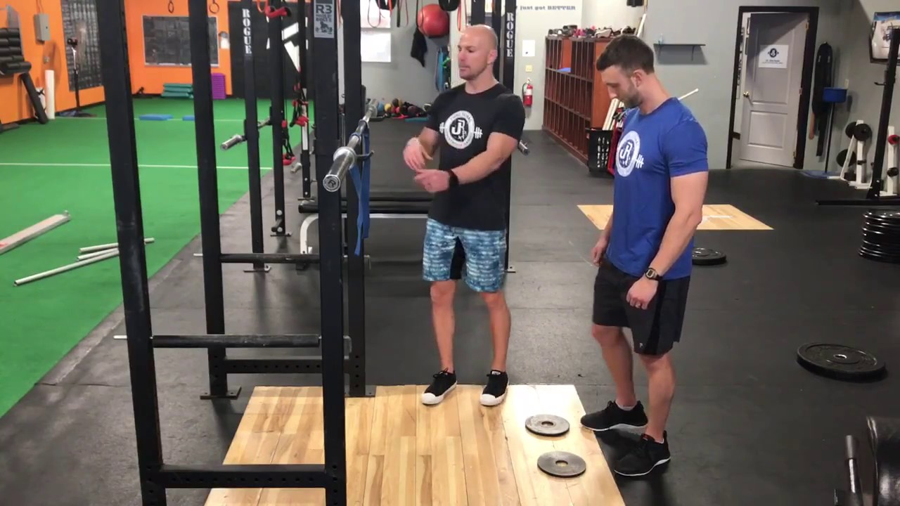 21a3ab6abb18 Front Squat with Heels Elevated - YouTube
