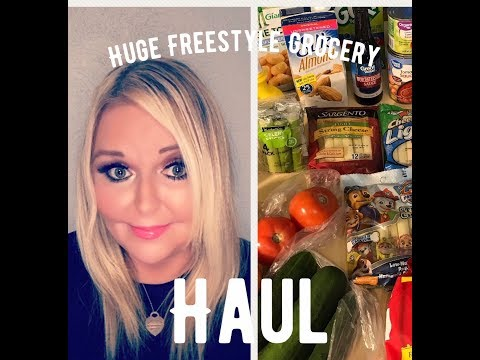 *HUGE*  Weight Watchers Freestyle Grocery Haul !  2018
