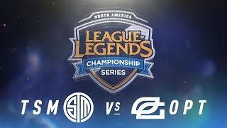 TSM vs. OPT - Week 2 Day 1 | NA LCS Spring Split | TSM vs. OpTic Gaming (2018)