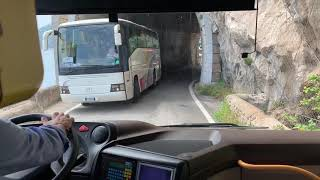 Amalfi Coast Italy Bus Driving Skills ??