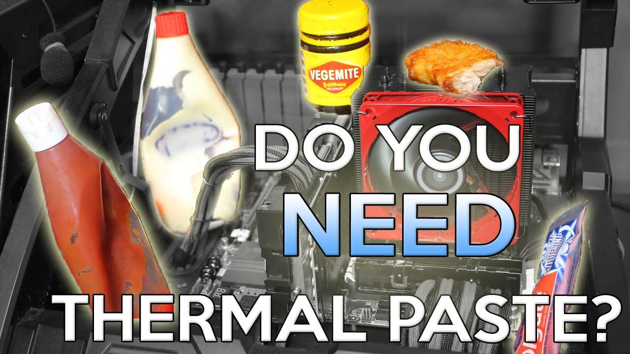 Do You Even Need Thermal Paste Arctic Mx 4 Vs Toothpaste Vs Mayonnaise Vs Vegemite Vs Youtube