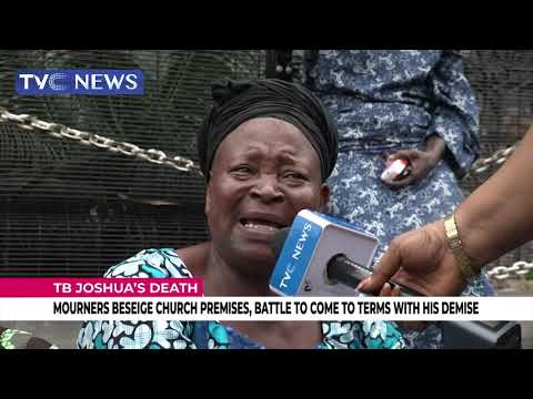 Hundreds Besiege Church Premises, Battle To Come To Terms With T.B. Joshua's Demise