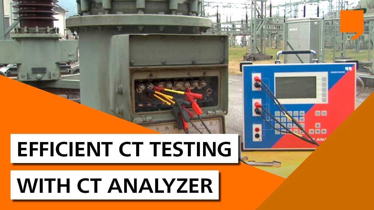 Efficient current transformer testing with OMICRON CT Analyzer