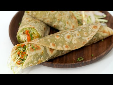 Vegetable Frankie | Mumbai Street Food Recipe by Chetna Patel