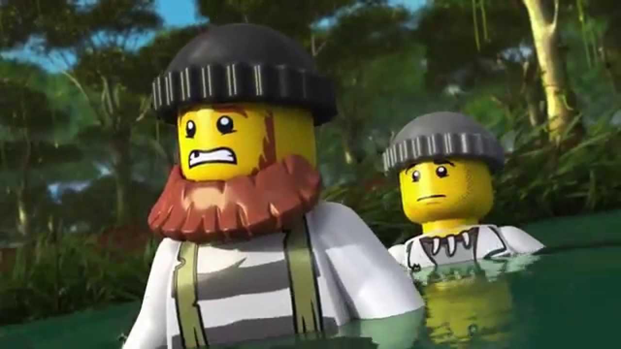 The Wild Chase Lego City Swamp Police Mini Movie 3d Youtube