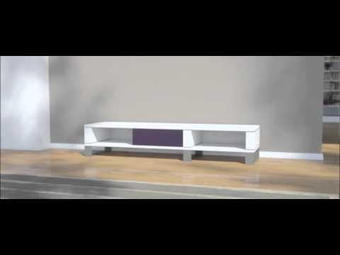 lowboard nach ma mit kufen milligon youtube. Black Bedroom Furniture Sets. Home Design Ideas