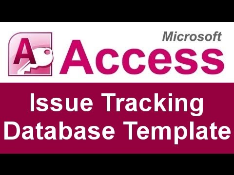 Microsoft Access Issue Tracking Database Template  Youtube