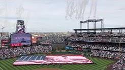 Colorado Rockies Coors Field Home Opener National Anthem 4/6/2019