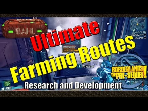 Borderlands The Pre Sequel | Ultimate Farming Routes | Research and Development