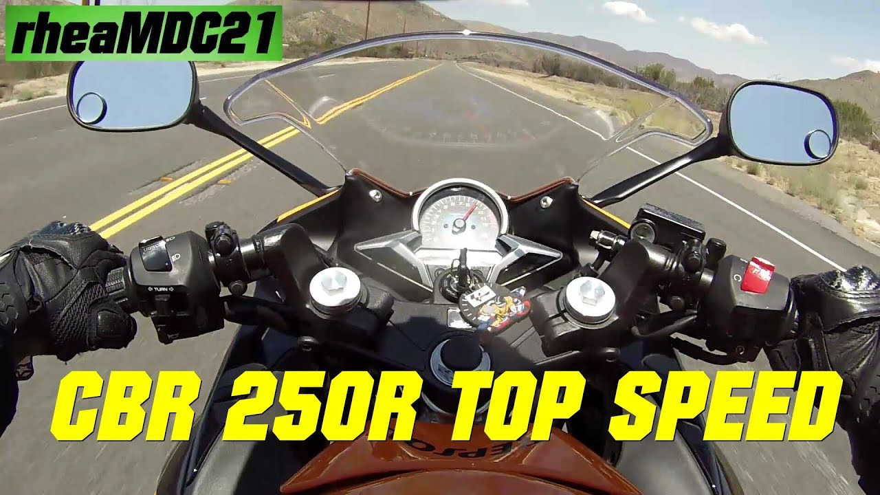 Honda CBR 250R TOP SPEED   CBR 250R With M4 Exhaust Top Speed   YouTube