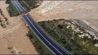 🔴🔴 LE PRIME IMMAGINI - Crollato un ponte sulla statale Cagliari Capoterra