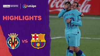 Villarreal 1-4 Barcelona | Laliga 19/20 Match Highlights