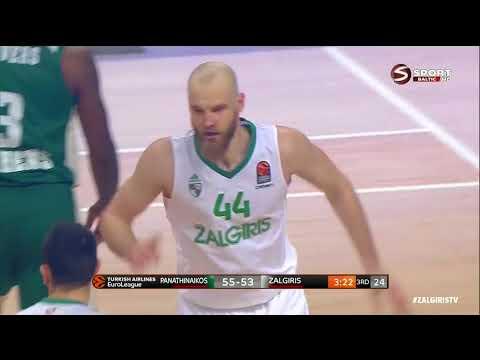 Antanas Kavaliauskas vs Panathinaikos (2018.01.25) 21 points