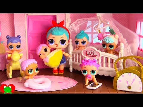 LOL Surprise Dolls New Nursery for L.O.L. Lil Sisters In Doll House Toy Video