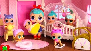 LOL Surprise Dolls New Nursery for L.O.L. Lil Sisters In Doll House