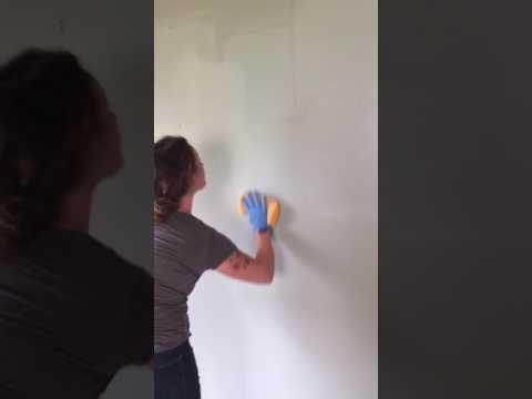 Washing smoke damaged walls