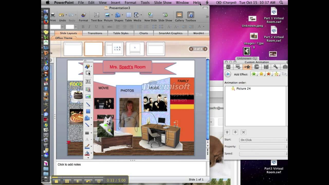build a virtual room in powerpoint youtube