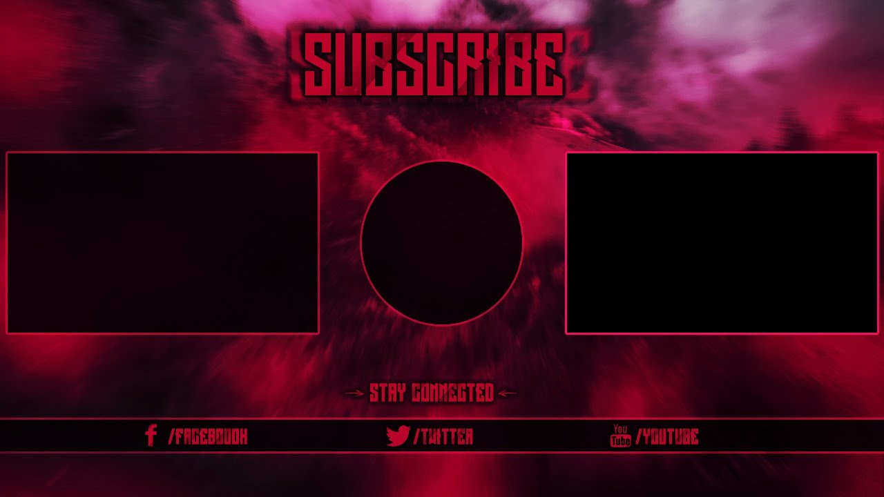 Free outro template 1 change color photoshop cccs6 for Blank outro template