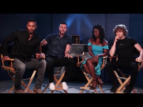 American Gods Ricky Whittle, Yetide Badaki, Pablo Schreiber, and Bruce Langley Live from facebook