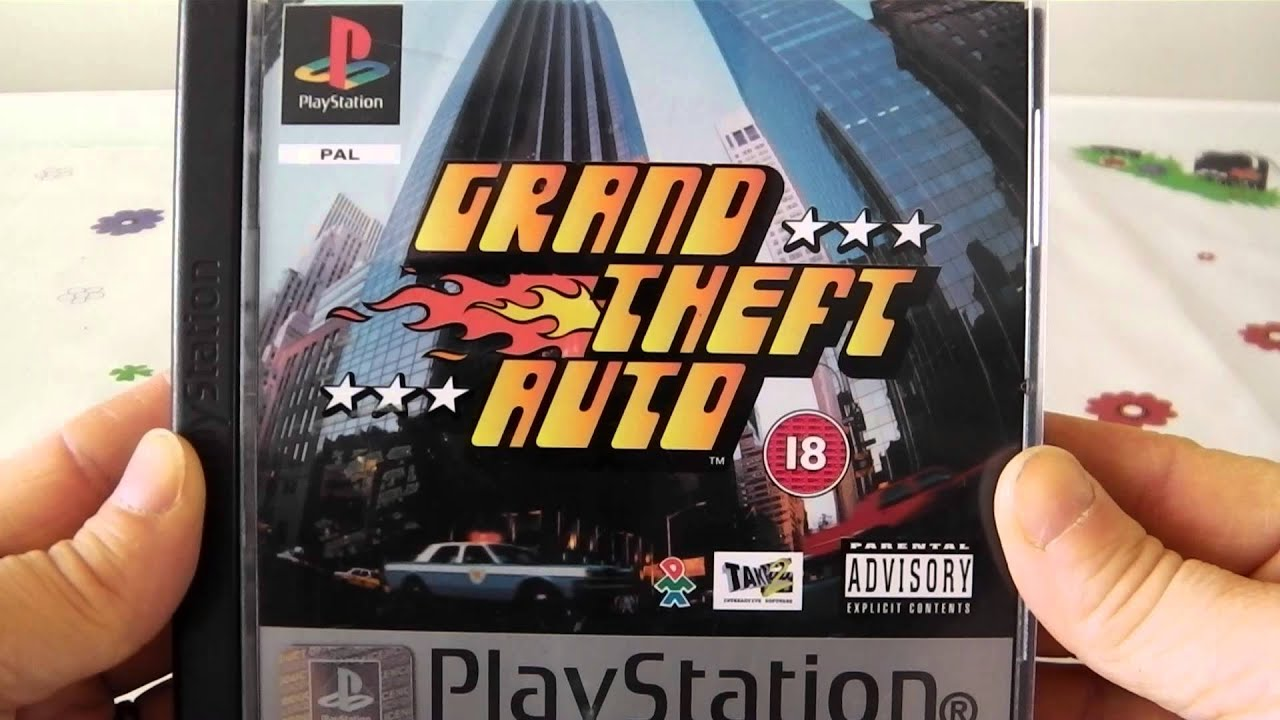 Grand theft auto playstation 1 video game box art review for 4 box auto