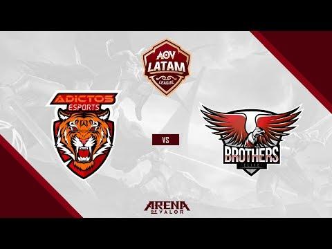 AoV LATAM League - ADICTOS ESPORTS (Uruguay) vs BROTHERS ELITE (Chile) - Arena of Valor Competitivo
