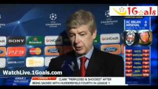 AC Milan vs Arsenal 4-0 Arsene Wenger Post Match Interviews 2011/12 UEFA Champions League