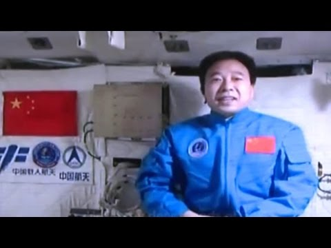 Message in a shuttle: Chinese and EU astronauts have warm video-chat