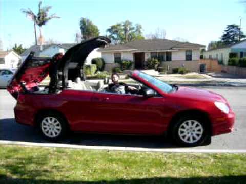 2008 Chrysler Sebring Convertible Top Closing In Burbank California