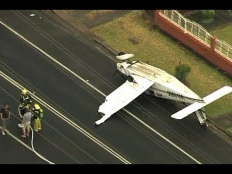 Light Plane Crashes in Sydney Street