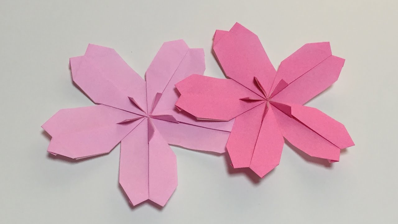 How To Make A Paper Cherry Blossom Origami Flower Cherry Blossom