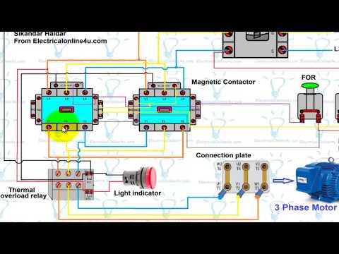 Forward Reverse Motor Control Wiring Diagram For 3 Phase ... on 3 phase motor contactor, 3 phase motor control wiring diagram, 3 phase motor circuit diagram,