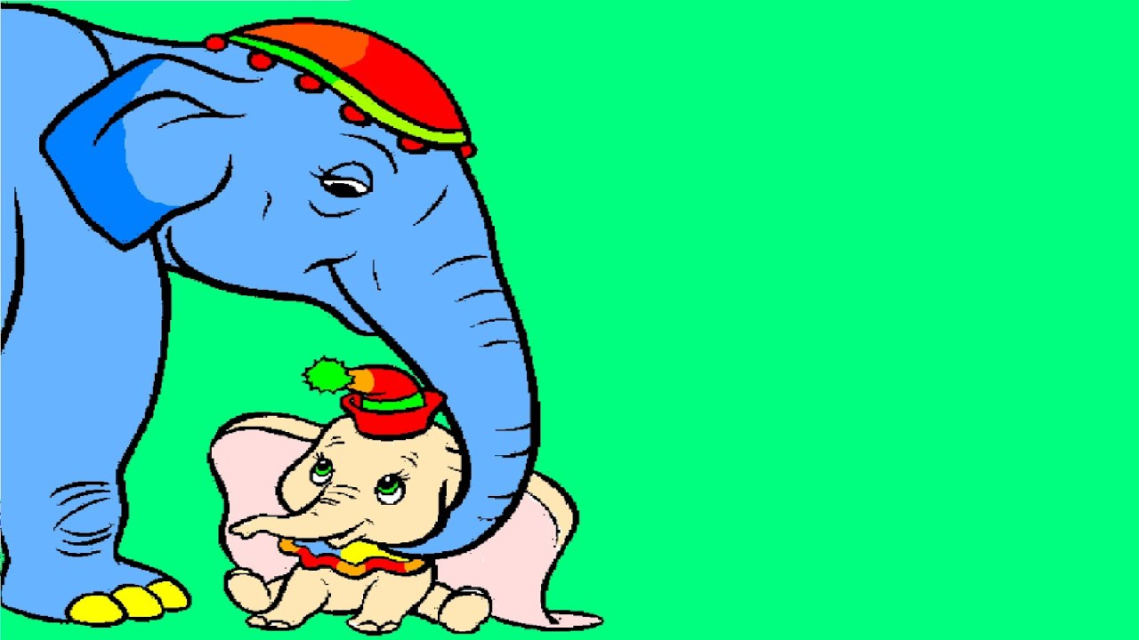 Dumbo Elephant Coloring Page - YouTube