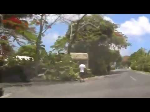 Driving Round Rarotonga Cook Islands