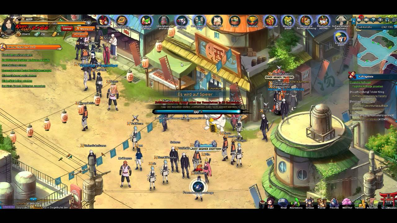naruto online game deutsch