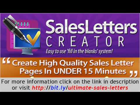 Ultimate Sales Letters Create Sales Letter In Less Than 15 Minutes